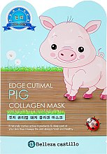 """Парфюмерия и Козметика Памучна маска за лице """"Прасенце"""" - Belleza Castillo Edge Cutimal Pig Anti-Wrinkle Mask"""