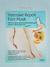 """Парфюмерия и Козметика Интензивно възстановяваща маска-чорапи """"Кайсия"""" - Skinlite Intensive Repair Foot Mask"""