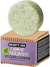 Парфюмерия и Козметика Твърд шампоан за коса и чувствителен скалп с масло от хвойна и лавандула - Beauty Jar I Have Feelings