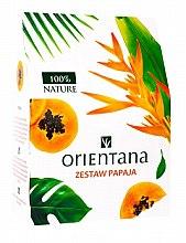 Парфюми, Парфюмерия, козметика Комплект за лице - Orientana Papaya (маска/50ml + почист. гел/150ml + маска за очи/2pads)