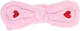Парфюмерия и Козметика Козметична лента за коса, розова - Lash Brow Cosmetic SPA Band