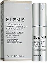 Парфюмерия и Козметика Лифтинг крем за околоочния контур и устни - Elemis Pro-Intense Eye and Lip Contour Cream