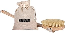 Парфюмерия и Козметика Четка за сух масаж № 4 - Hhuumm