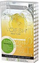 """Парфюми, Парфюмерия, козметика Комплект за педикюр """"Лимон"""" - Voesh Pedi In A Box Deluxe Pedicure Lemon Quench (35 g)"""