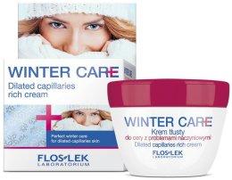 Парфюми, Парфюмерия, козметика Богат защитен крем за чувствителна кожа, склонна към зачервявания - Floslek Winter Care Dilated Capillares Rich Cream