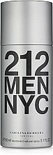 Парфюмерия и Козметика Carolina Herrera 212 MEN NYC - Дезодорант