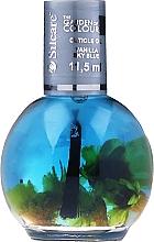 Парфюмерия и Козметика Масло за нокти и кожички с цветя - Silcare The Garden Of Colour Vanilla Sky Blue