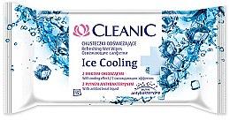 Парфюмерия и Козметика Овлажняващи мокри кърпички, 15 бр. - Cleanic Ice Cooling Wipes