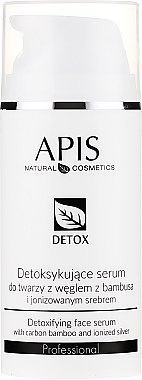 Серум-детокс за мазна и комбинирана кожа - APIS Professional Detox Detoxifying Face Serum With Carbon Bamboo And Ionized Silver
