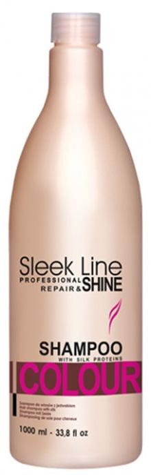 Шампоан с коприна за боядисана коса - Stapiz Sleek Line Colour Shampoo