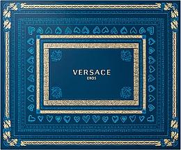 Парфюмерия и Козметика Versace Eros - Комплект (тоал. вода/50ml + душ гел/50ml + афтършейв/50ml)