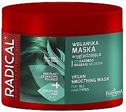 Парфюми, Парфюмерия, козметика Изглаждаща маска за коса с блестящ ефект - Farmona Radical Vegan Smoothing Hair Mask