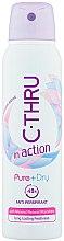 Парфюмерия и Козметика Дезодорант - C-Thru In Action Pure + Dry Antyperspirant