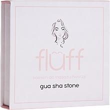 Парфюмерия и Козметика Камък за масаж на лицето, розов - Fluff Gua Sha Stone