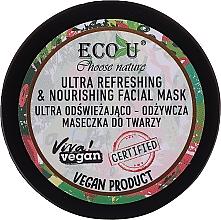 Парфюмерия и Козметика Ултра освежаваща и подхранваща маска за лице - Eco U Choose Nature Ultra Refreshing&Nourishing Face Mask