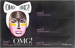 Парфюмерия и Козметика Почистваща маска за лице 4 в 1 - Double Dare OMG! 4in1 Kit Zone System Mask