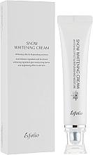Парфюмерия и Козметика Изсветляващ и овлажняващ крем за лице - Esfolio Snow Whitening Cream
