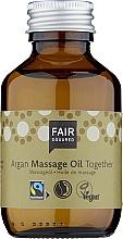 Парфюмерия и Козметика Масажно масло за тяло - Fair Squared Argan Massage Oil Together