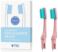 Парфюмерия и Козметика Сменяеми глави за четка за зъби, меки, розови - TIO Toothbrush Soft