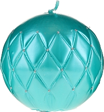 Парфюмерия и Козметика Декоративна свещ, тюркоазена, 10см - Artman Florence
