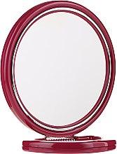 Парфюми, Парфюмерия, козметика Кръгло двустранно огледало 9509, на поставка, цвят бордо, 18,5 см - Donegal Mirror