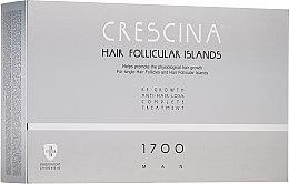 Парфюмерия и Козметика Комплексна терапия против косопад за мъже 1700 - Crescina Hair Follicular Islands Man Complete Treatment 1700