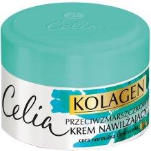 Парфюми, Парфюмерия, козметика Овлажняващ крем за лице против бръчки, за нормална и комбинирана кожа - Celia Collagen Cream
