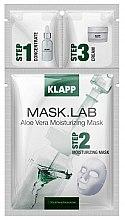 Парфюмерия и Козметика Хидратираща маска за лице с алое вера - Klapp Mask Lab Aloe Vera Moisturizing Mask