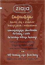 Парфюмерия и Козметика Автобронзираща кърпичка за лице и тяло - Ziaja Cupuacu