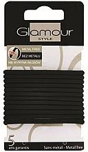 Парфюмерия и Козметика Ластици за коса, 414687, черни - Glamour