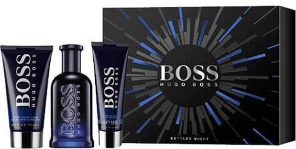 Hugo Boss Boss Bottled Night - Комплект (тоал. вода/100ml + афтър. балсам/75ml + душ гел/50ml) — снимка N1
