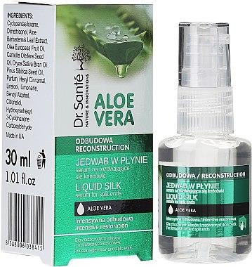 """Продукт за нацъфтели краища на косата """"Течна коприна"""" - Dr. Sante Aloe Vera"""