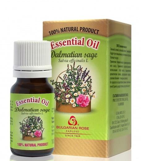 "Етерично масло ""Градински чай"" - Bulgarian Rose Dalmatian Sage Essential Oil — снимка N1"