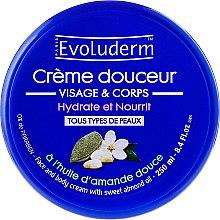 Парфюми, Парфюмерия, козметика Бадемов крем за тяло и лице - Evoluderm Almond Face and Body Cream