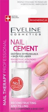 Заздравител за нокти - Eveline Cosmetics Nail Cement Conditioner & Base Coat — снимка N1