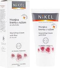 Парфюми, Парфюмерия, козметика Подхранващ крем за лице с роза - Nikel Nourishing Cream with Rose