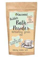 """Парфюми, Парфюмерия, козметика Пудра за вана """"Освежаващ зелен чай"""" - Nacomi Bath Powder"""