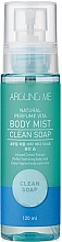 Парфюмерия и Козметика Мист за тяло - Welcos Around Me Natural Perfume Vita Body Mist Clean Soap