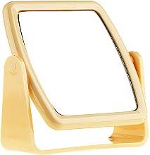 Парфюмерия и Козметика Огледало на стойка 85727, квадратно , жълто - Top Choice Beauty Collection Mirror