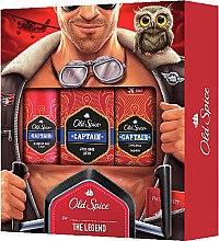 Парфюми, Парфюмерия, козметика Комплект - Old Spice Capitain Aviator (део/150ml + афтър. лосион/100ml + душ гел/50ml)