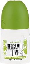 "Парфюмерия и Козметика Рол-он дезодорант ""Бергамот и лайм"" - Schmidt's Bergamot + Lime Deo Roll-On"
