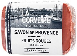"""Парфюми, Парфюмерия, козметика Провансалски сапун """"Червени плодове"""" - La Corvette Provence Soap Red Berries"""