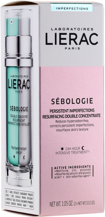 Комплект за лице - Lierac Sebologie Correction Imperfection (f/concentrate/30ml + f/gel/40ml) — снимка N2