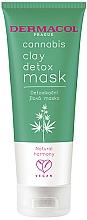 Парфюмерия и Козметика Детоксикираща глинена маска за лице с конопено масло - Dermacol Cannabis Clay Detox Mask