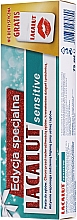 Парфюмерия и Козметика Комплект за зъби - Lacalut Sensitive Special Edition Set (паста/75ml + конец)