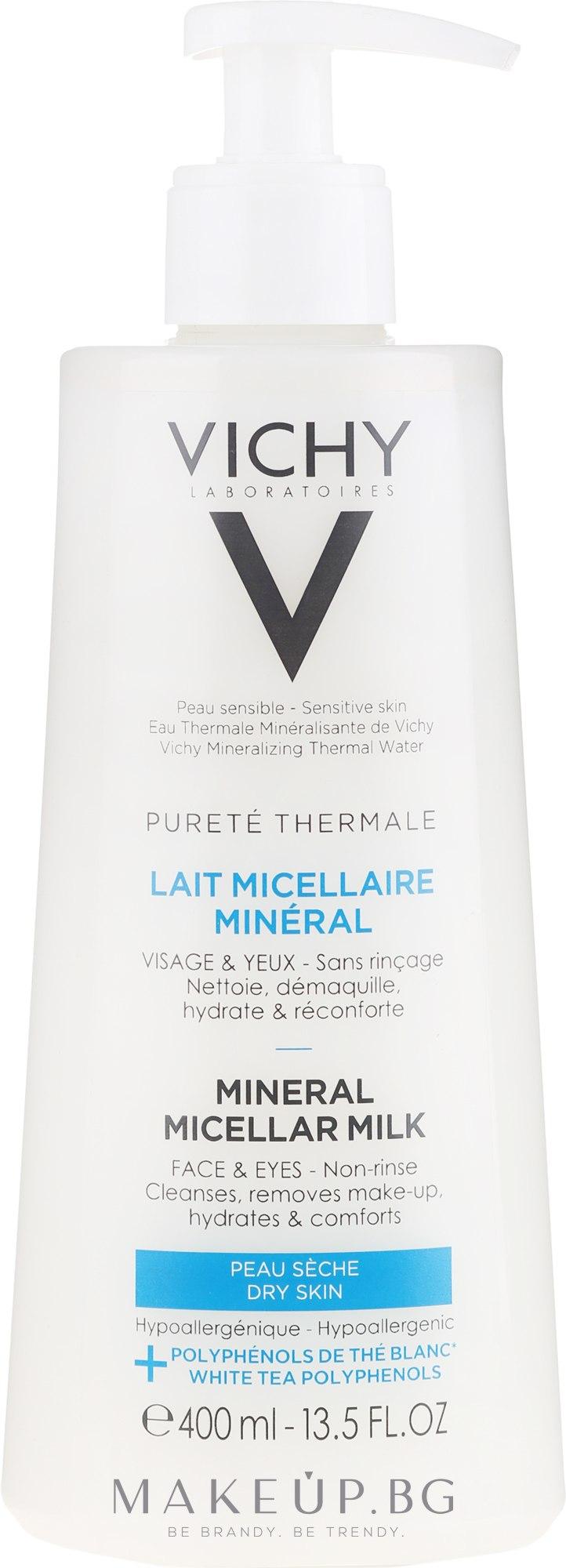 Мицеларно почистващо мляко за суха кожа - Vichy Purete Thermale Mineral Micellar Milk For Dry Skin — снимка 400 ml