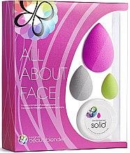 Парфюми, Парфюмерия, козметика Комплект - Beautyblender All.About.Face (гъби за грим/3бр + сапун/1бр)