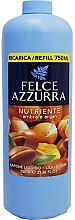 Парфюмерия и Козметика Течен сапун с кехлибар и арган - Felce Azzurra Nutriente Amber & Argan (пълнител)