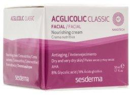 Парфюми, Парфюмерия, козметика Подхранващ нощен крем - SesDerma Laboratories Acglicolic Classic Nourising Cream