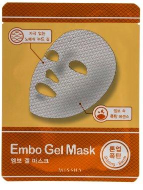 Освежаваща маска за лице - Missha Embo Gel Mask Shining-Bomb — снимка N1